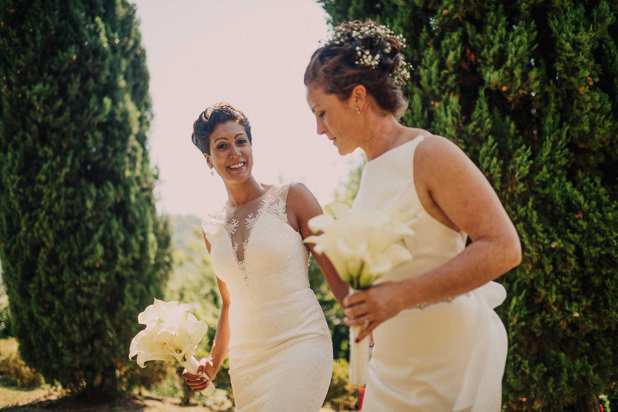 same sex wedding photo tuscany
